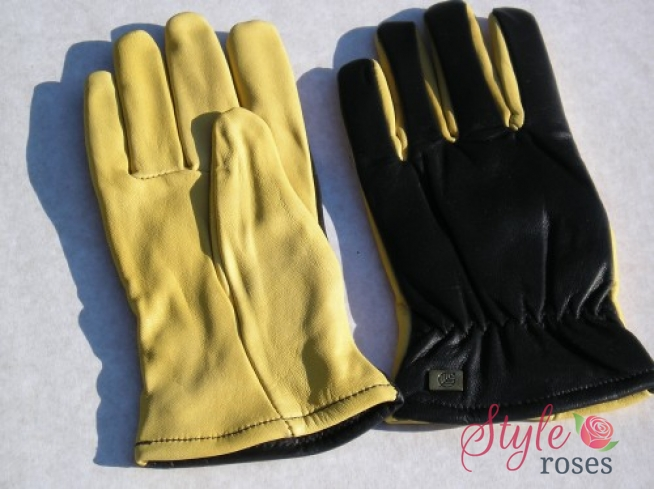 'Gold Leaf' Leather Ladies Gloves