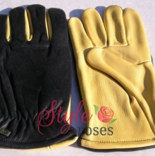 'Gold Leaf' Leather Gents Gloves